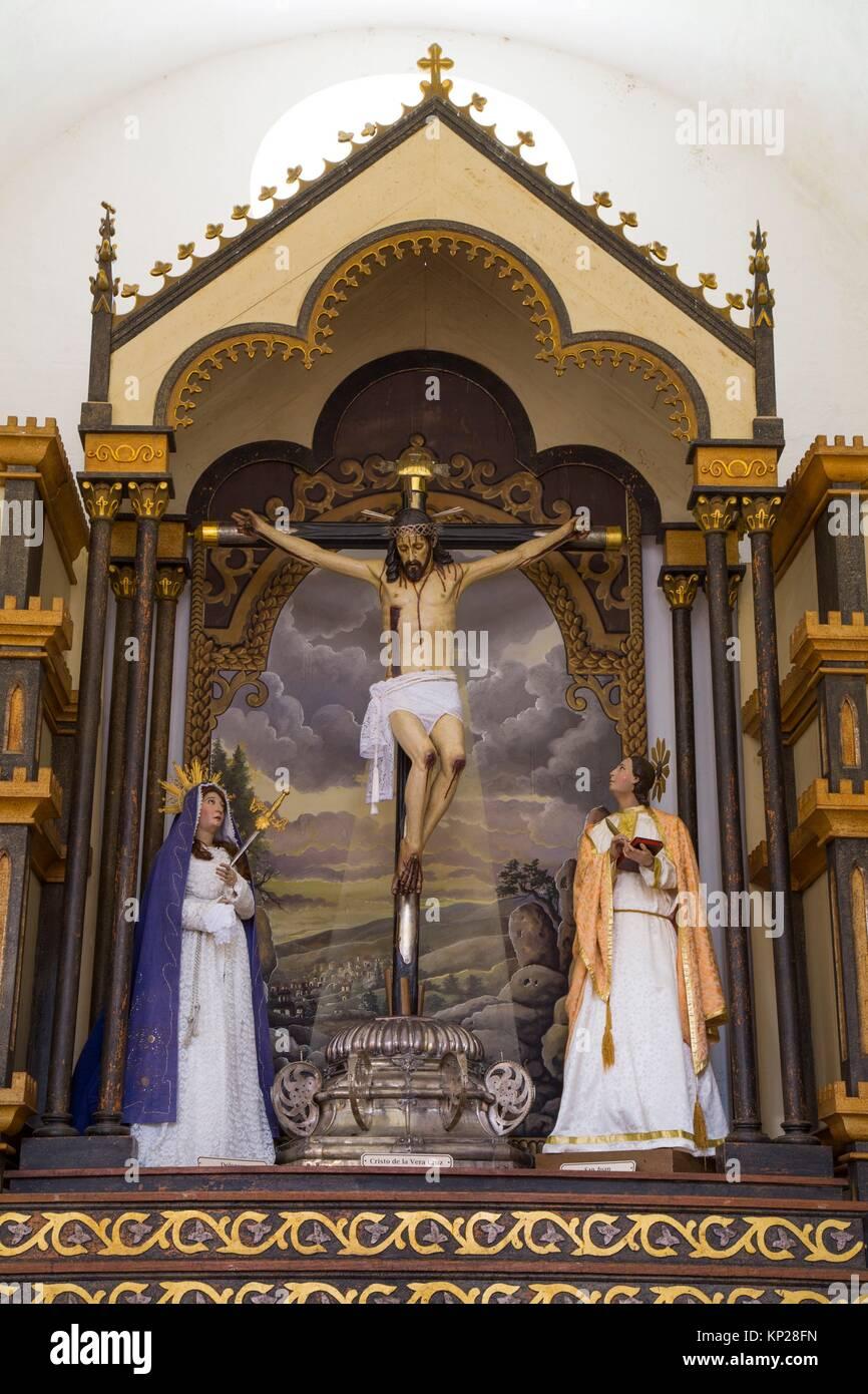 Statue of Señor de la Vera Cruz, Iglesia Parroquial de la Santisima, Trinidad, UNESCO World Heritage Site, - Stock Image