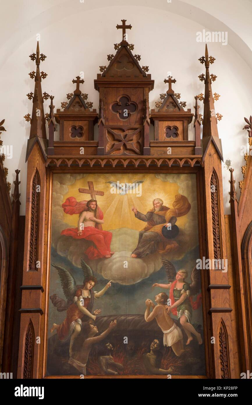 Religious Painting, Iglesia Parroquial de la Santísima, Trinidad, UNESCO World Heritage Site, Sancti Spiritus, - Stock Image