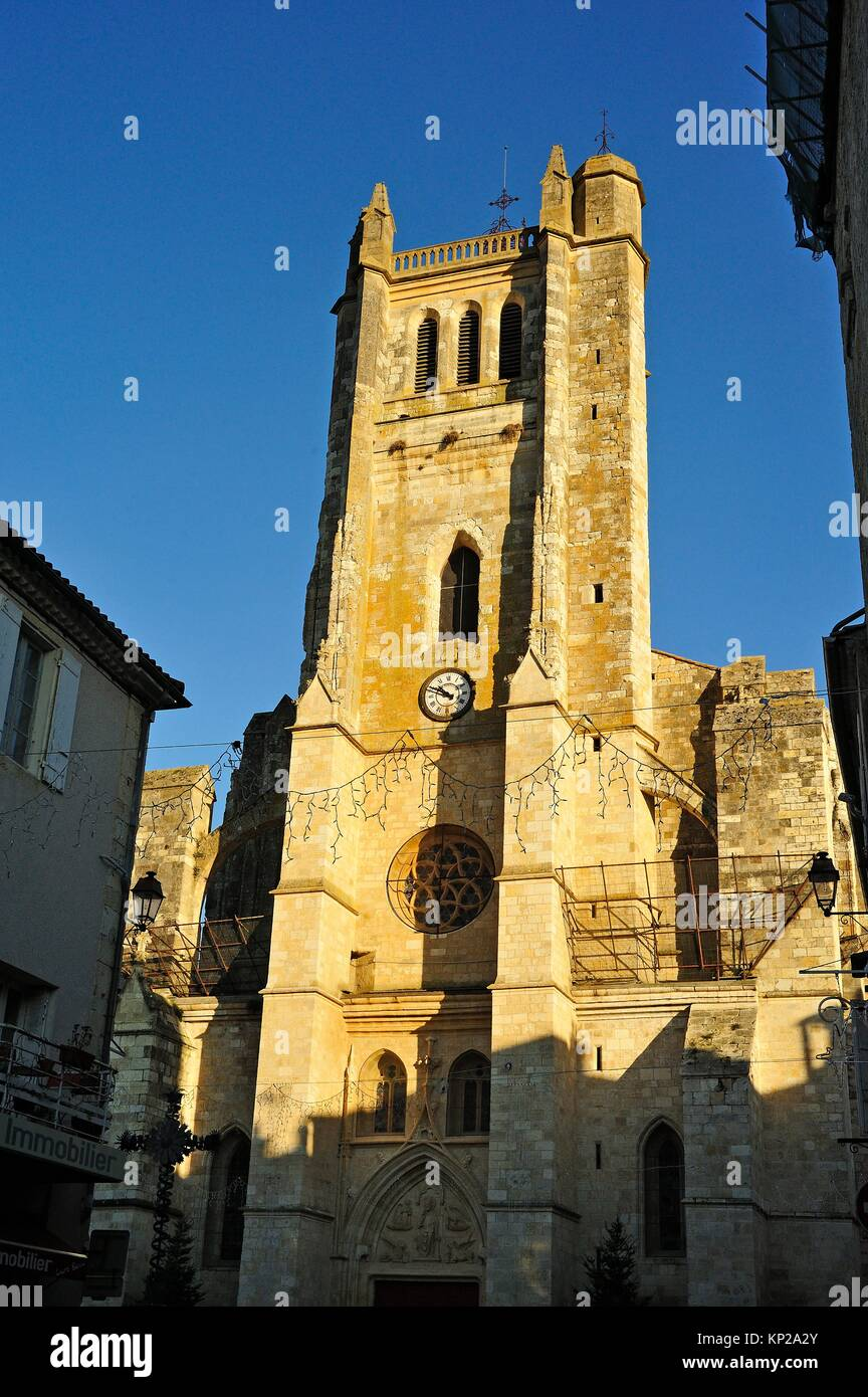 Saint Pierre Cathedral, Condom, Gers Department,Aquitaine, France. - Stock Image