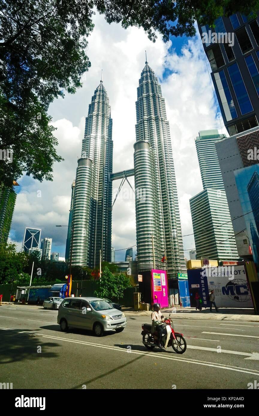 Petronas Towers, Kuala Lumpur, Malaysia - Stock Image