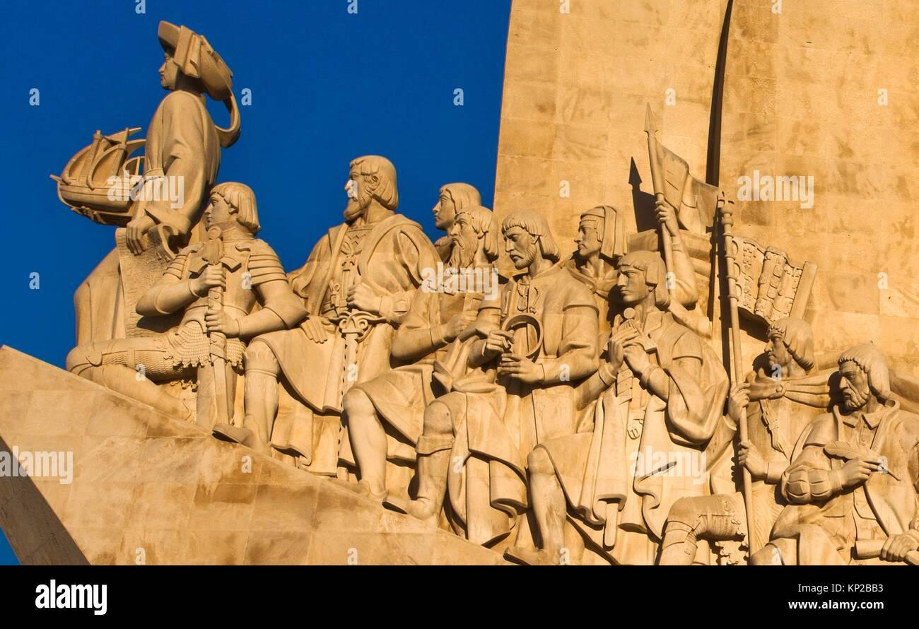 Monument to the Discoveries, Santa Maria de Belém district, Lisbon, Portugal, Europe. - Stock Image