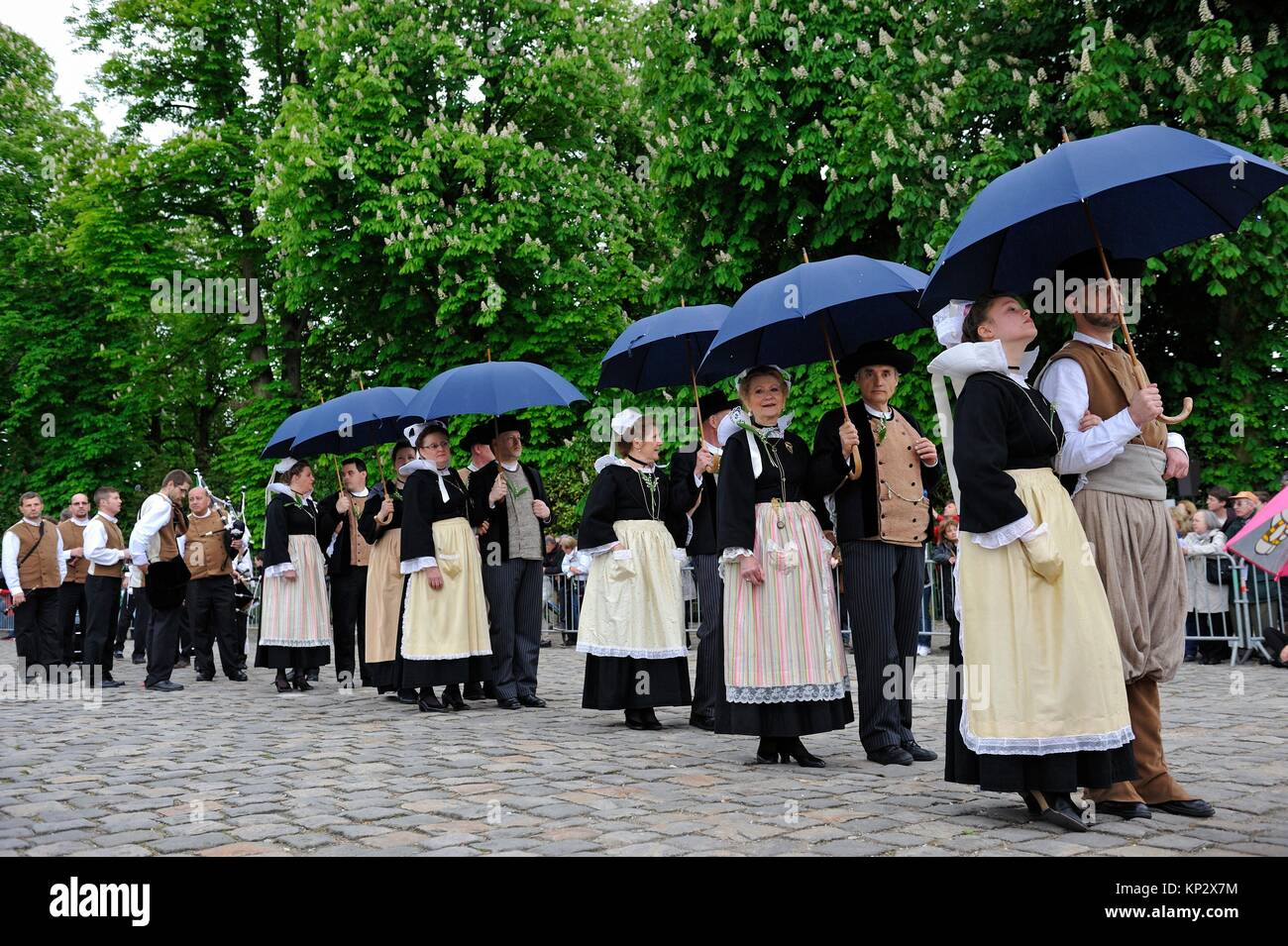 ´´Fete du Muguet´´ (Lily of the valley festival) parade at Rambouillet, Yvelines department, - Stock Image