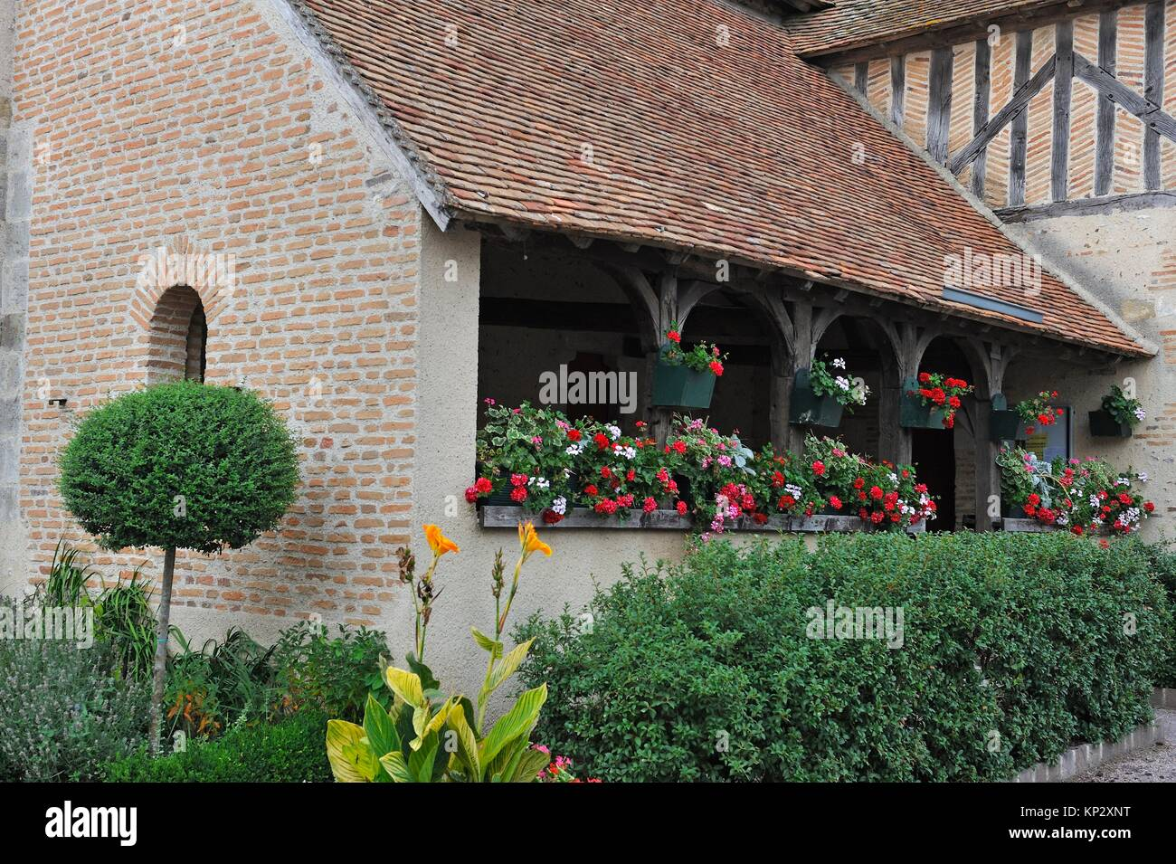 ´´caquetoire´´ (typical french name for a kind of porch where people can chat ) of the church - Stock Image