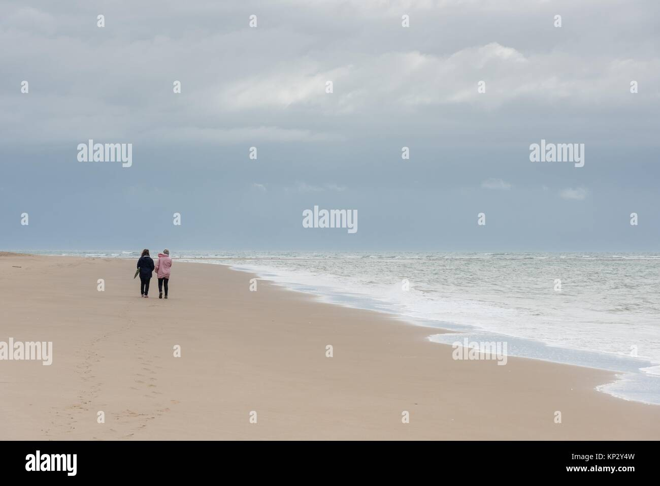 Punta del Moral Beach, Ayamonte, Andalucia, Spain - Stock Image