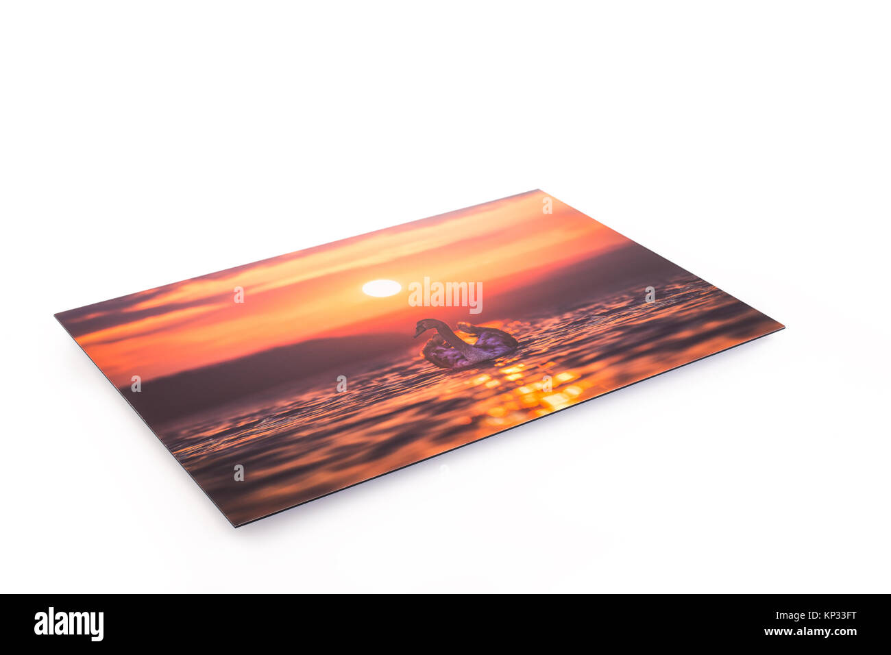 Canvas print of landscape scenery hung up on wall. - Stock Image