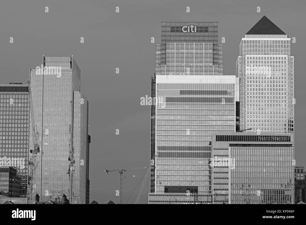 Canary Wharf London - Stock Image