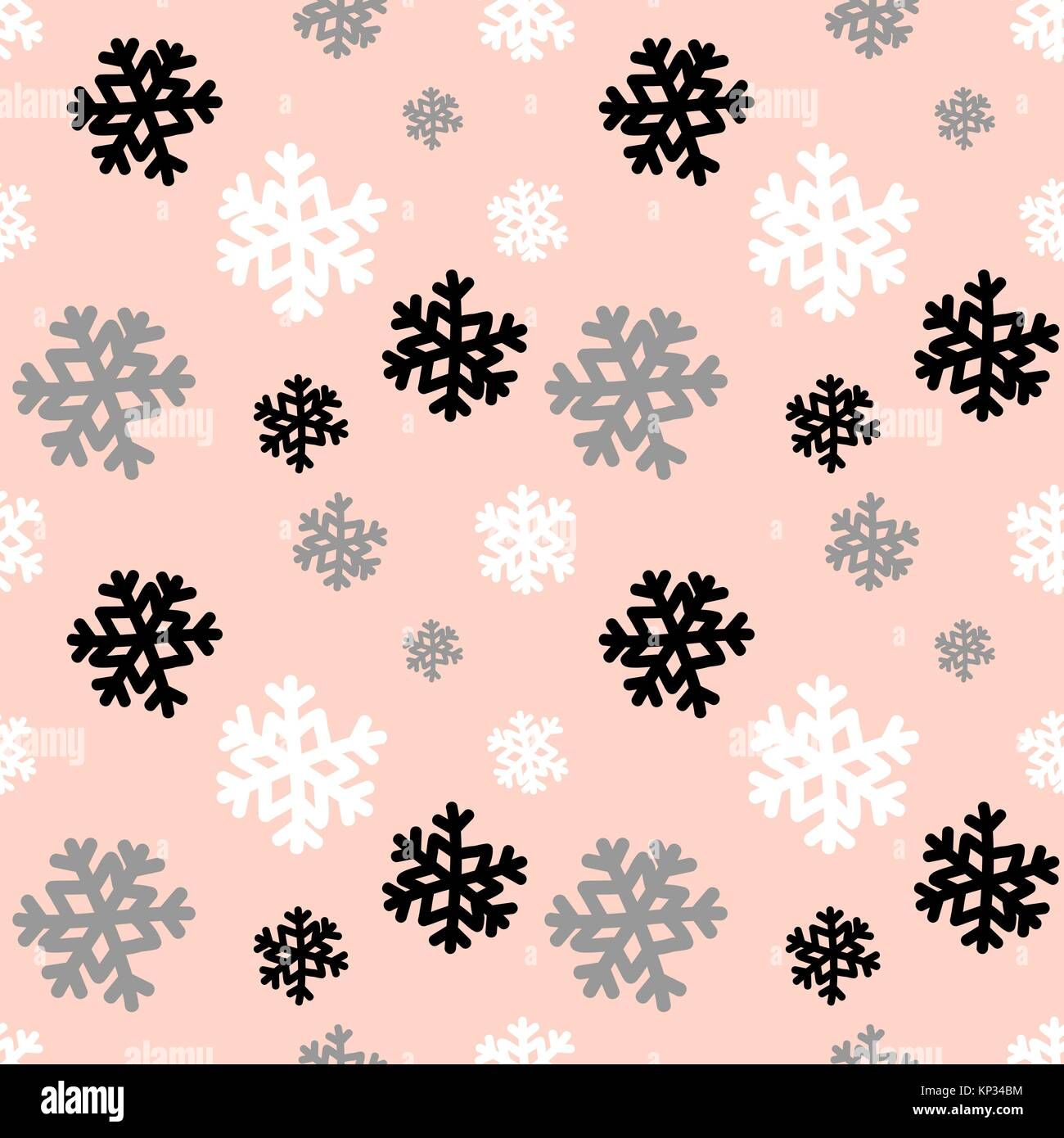 seamless repeating pattern with white gray and black snowflakes on KP34BM