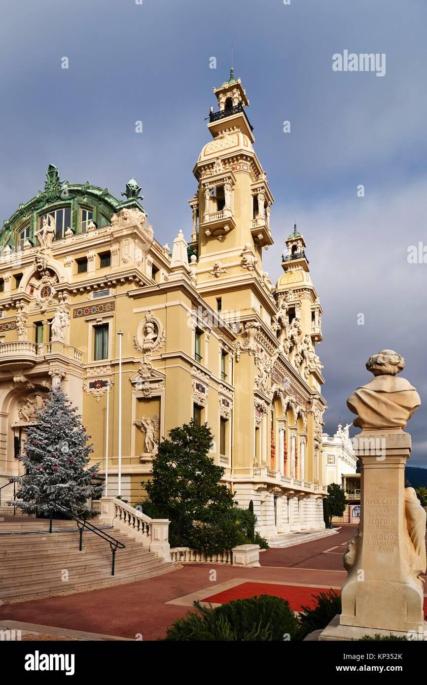 The Monte Carlo Casino is a gambling and entertainment complex located in Monaco. It includes a casino, the Grand - Stock Image