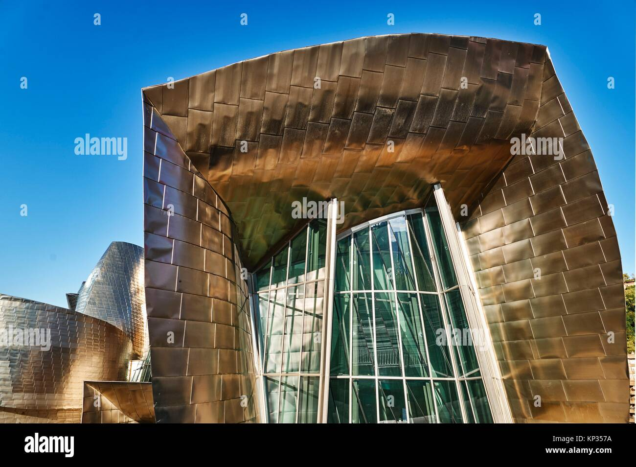 The Guggenheim Museum by Frank Gehry. Bilbao, Basque Country, Spain - Stock Image