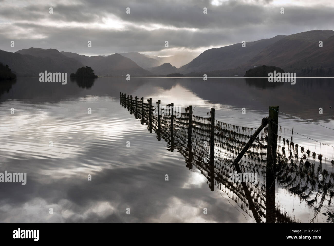 Derwent Water seen from Friar's Crag, Keswick, The Lake District. Cumbria, UK - Stock Image