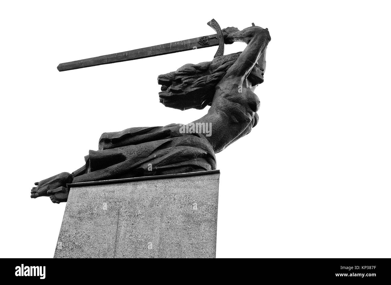 Monument to the Heroes of Warsaw, also known as the Warsaw Nike, commemorates all those who died in the city from - Stock Image