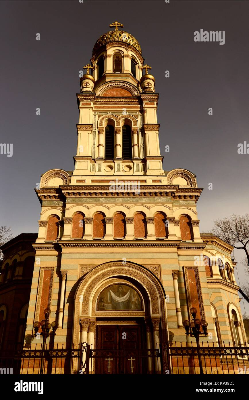 Alexander Nevsky Cathedral - orthodox church located Lodz in central Poland, it was built in the late 19th century - Stock Image