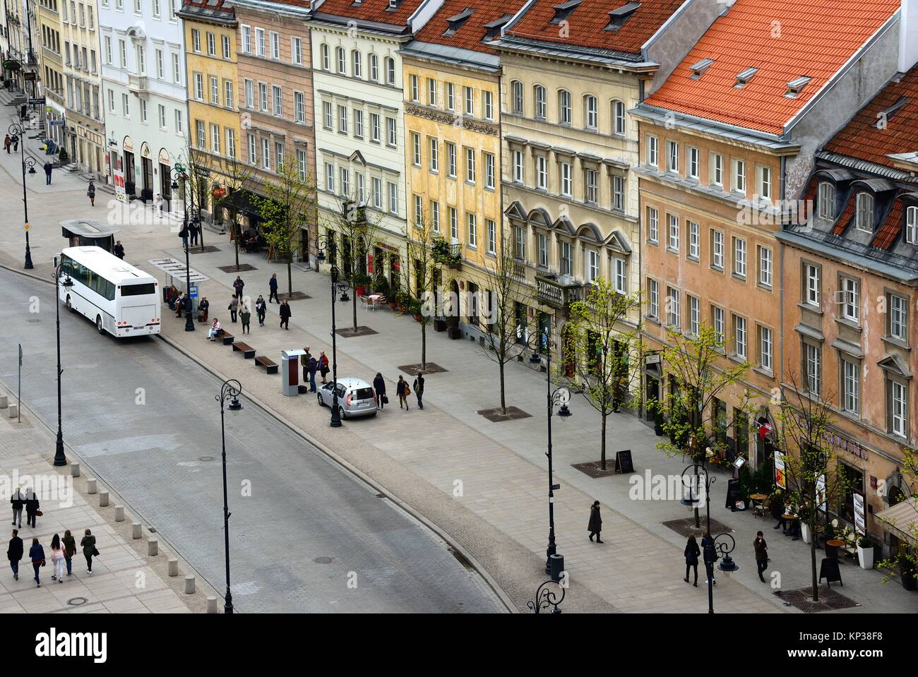 Krakowskie Przedmiescie street - so called Royal Tract, Warsaw, Poland, Europe - Stock Image