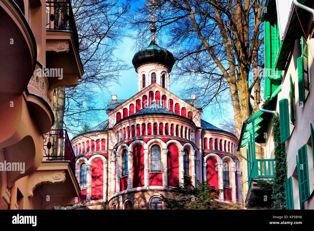 Ortodox Church, Mariánské Lázne, Karlovy Vary Region, Bohemia, Czech Republic - Stock Image