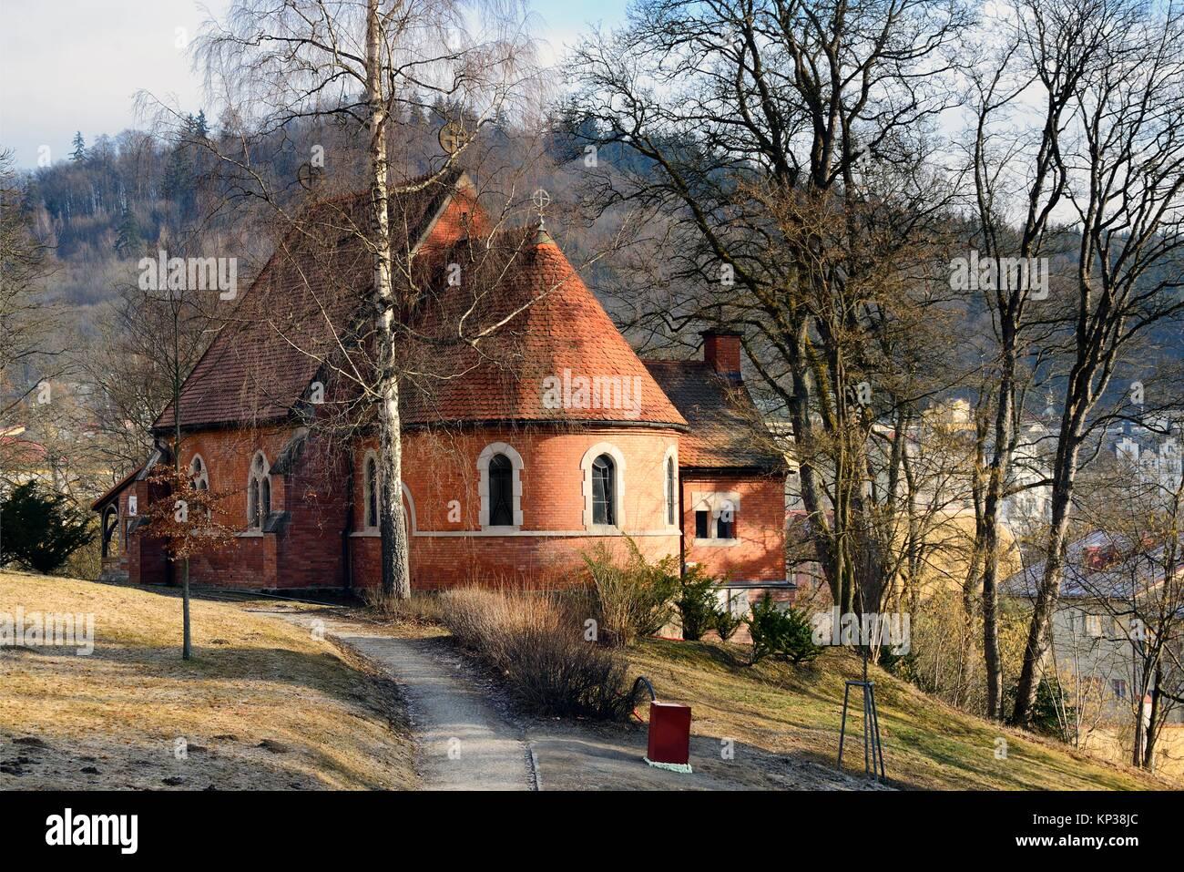 Anglican Church, Mariánské Lázne, Karlovy Vary Region, Bohemia, Czech Republic - Stock Image
