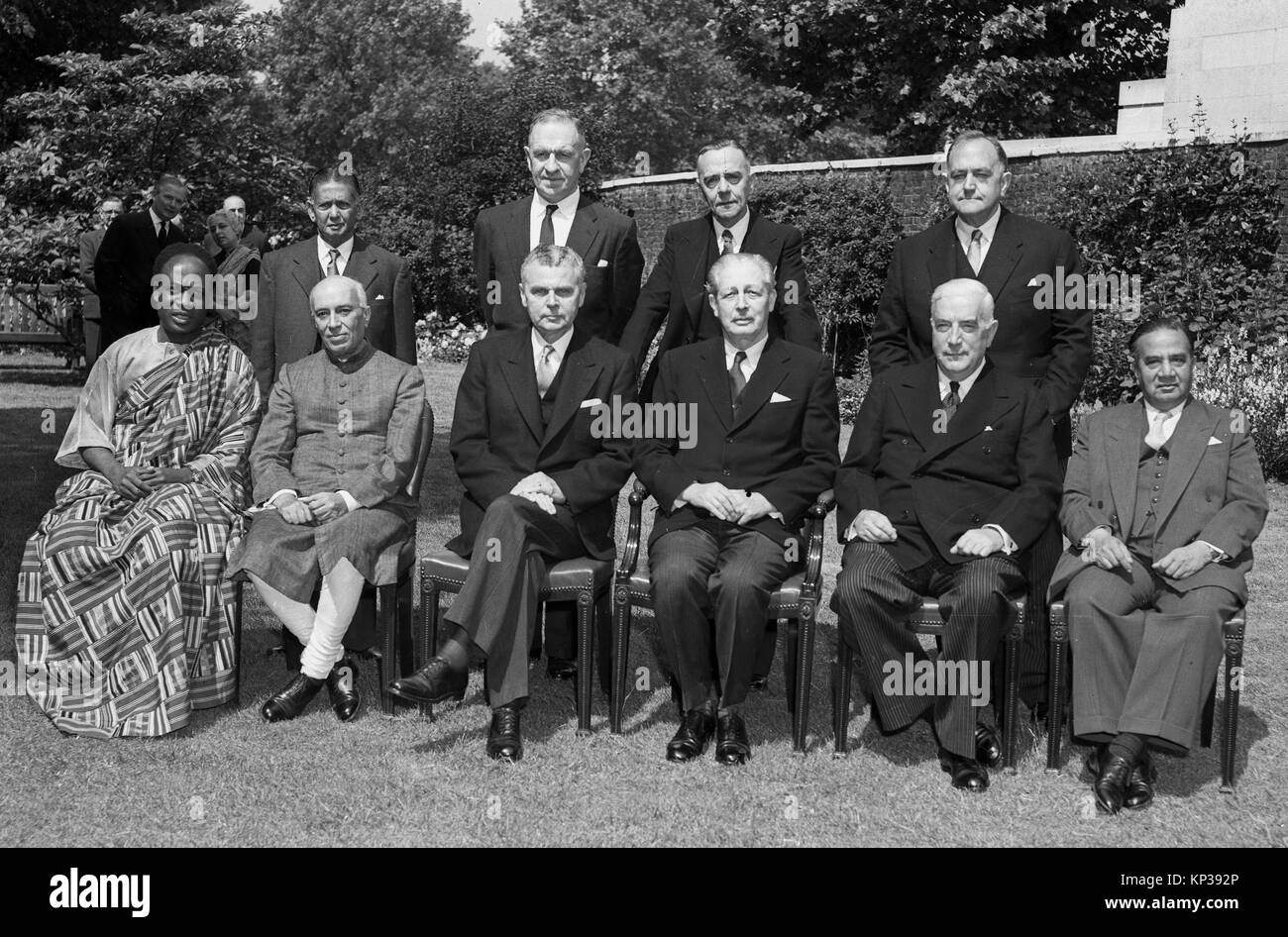 Commonwealth Prime Ministers attending the British Commonwealth Prime Ministers' Conference at 10 Downing Street - Stock Image