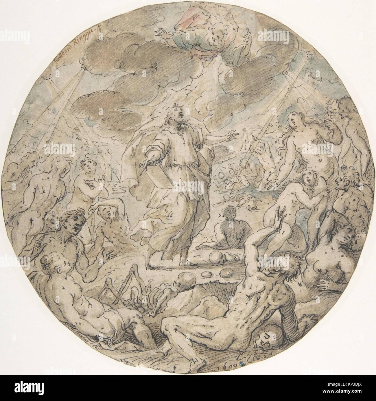 Ezekiel in the Valley of the Dry Bones MET DP803088 366728 - Stock Image