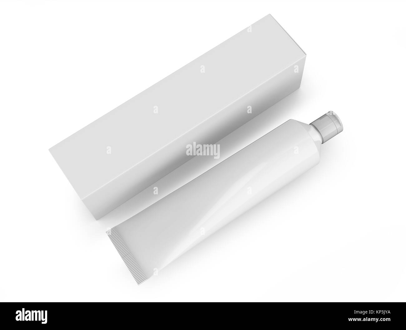 Blank toothpaste mockup, package template in 3d render Stock Photo ...