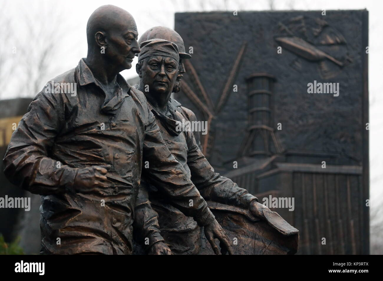 Moscow, Russia. 13th Dec, 2017. A monument to 'Chernobyl liquidators', people who took part in clean-up - Stock Image