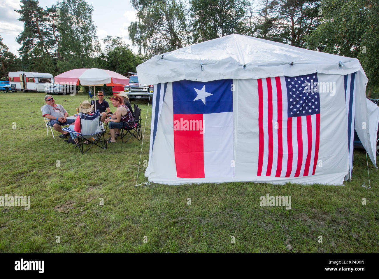 Texas and American flag on a tent Upplands Väsby Sweden. & Texas and American flag on a tent Upplands Väsby Sweden Stock ...