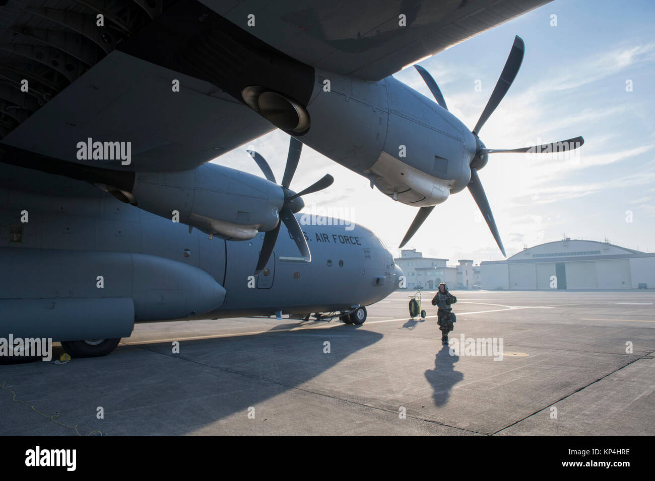 an airman with the 374th aircraft maintenance squadron performs rh alamy com