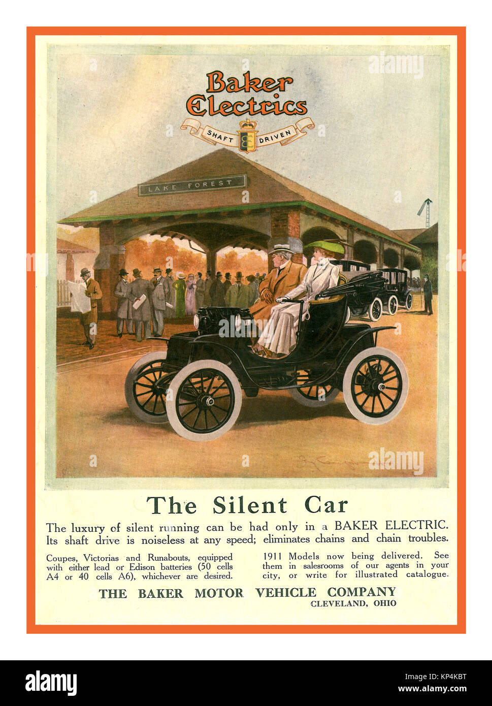 ELECTRIC VINTAGE CAR 1900\'s Vintage All Electric Car Poster 1911 ...