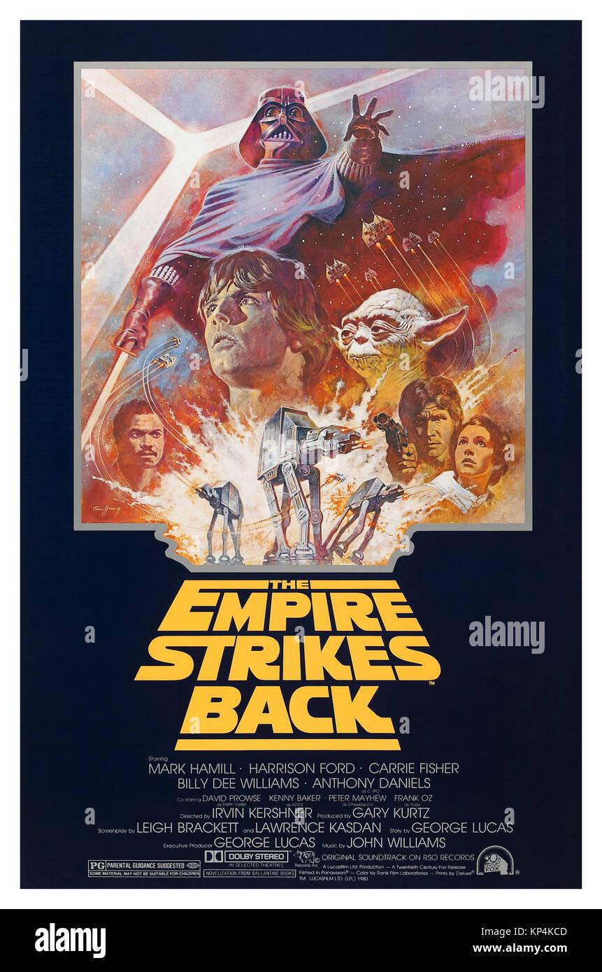 1980's Film Poster 'The Empire Strikes Back' (20th Century Fox, R-1981) Science Fiction. Film Cinema - Stock Image