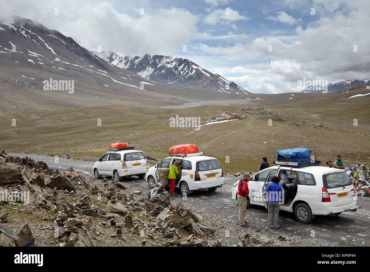 Baralacha Pass, Himachal Pradesh, India. - Stock Image