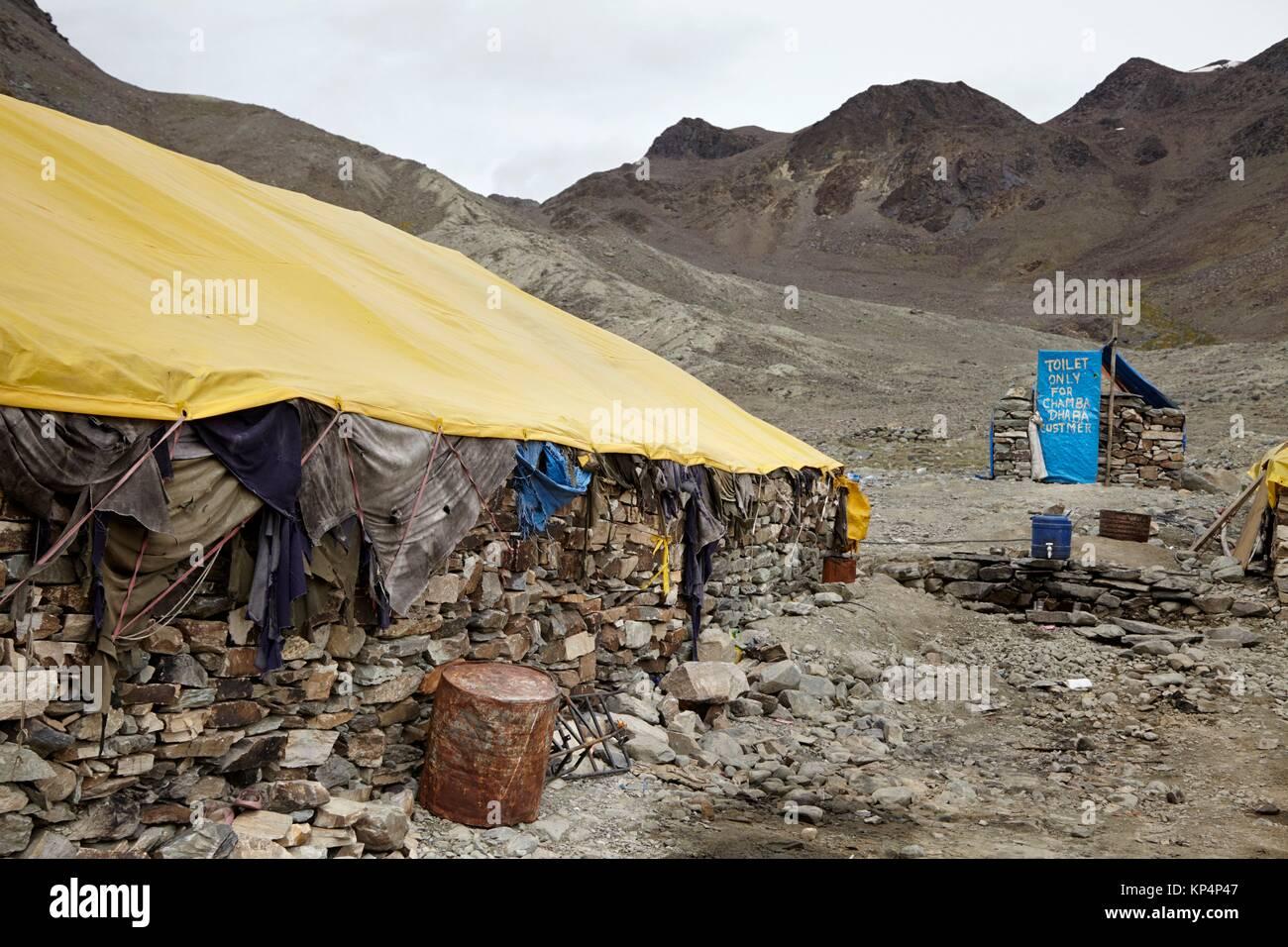Baratphur Tent Colony, Manali - Leh Highway, Ladak, India. - Stock Image