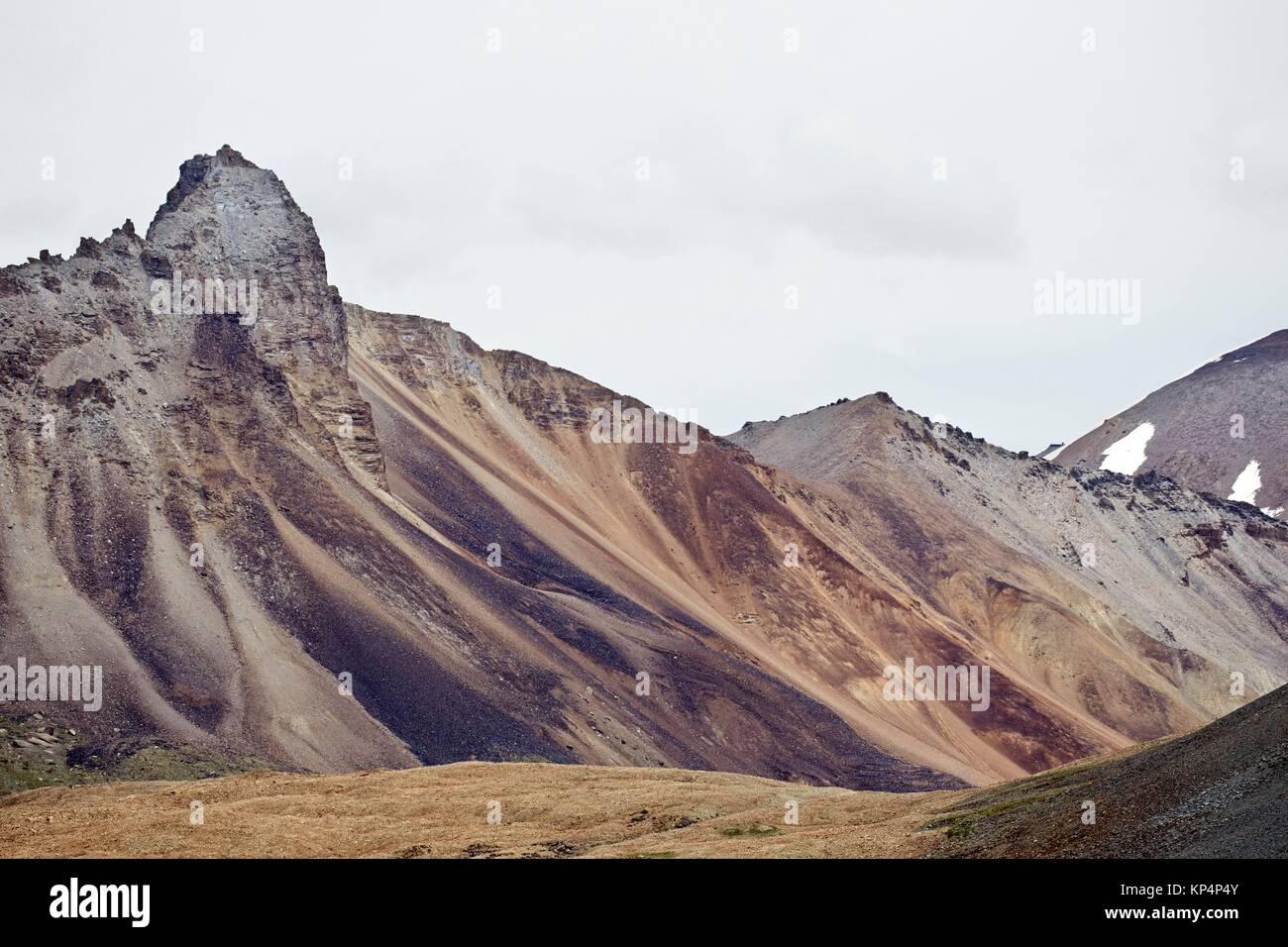 Manali - Leh Highway, Ladakh, India. - Stock Image