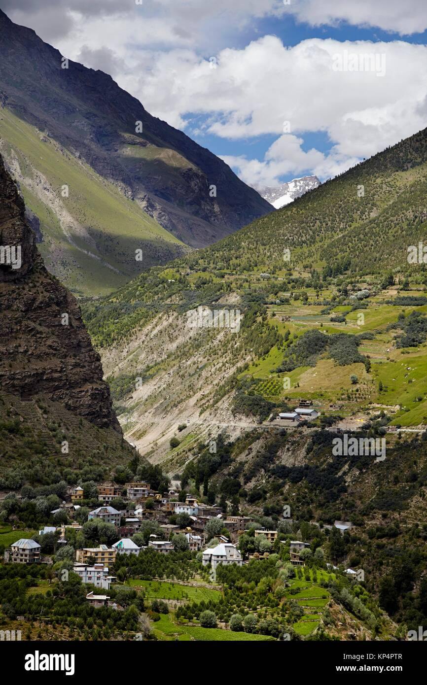 Tandi Village, Lahaul Valley, Himachal Pradesh, India. - Stock Image