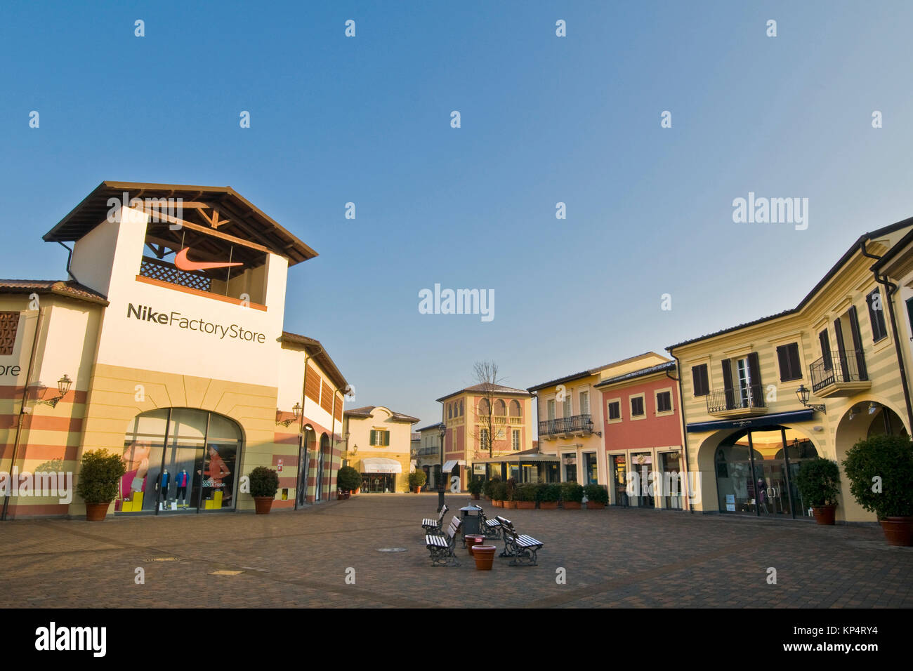 Nike store shopping stock photos nike store shopping for Milan factory outlet