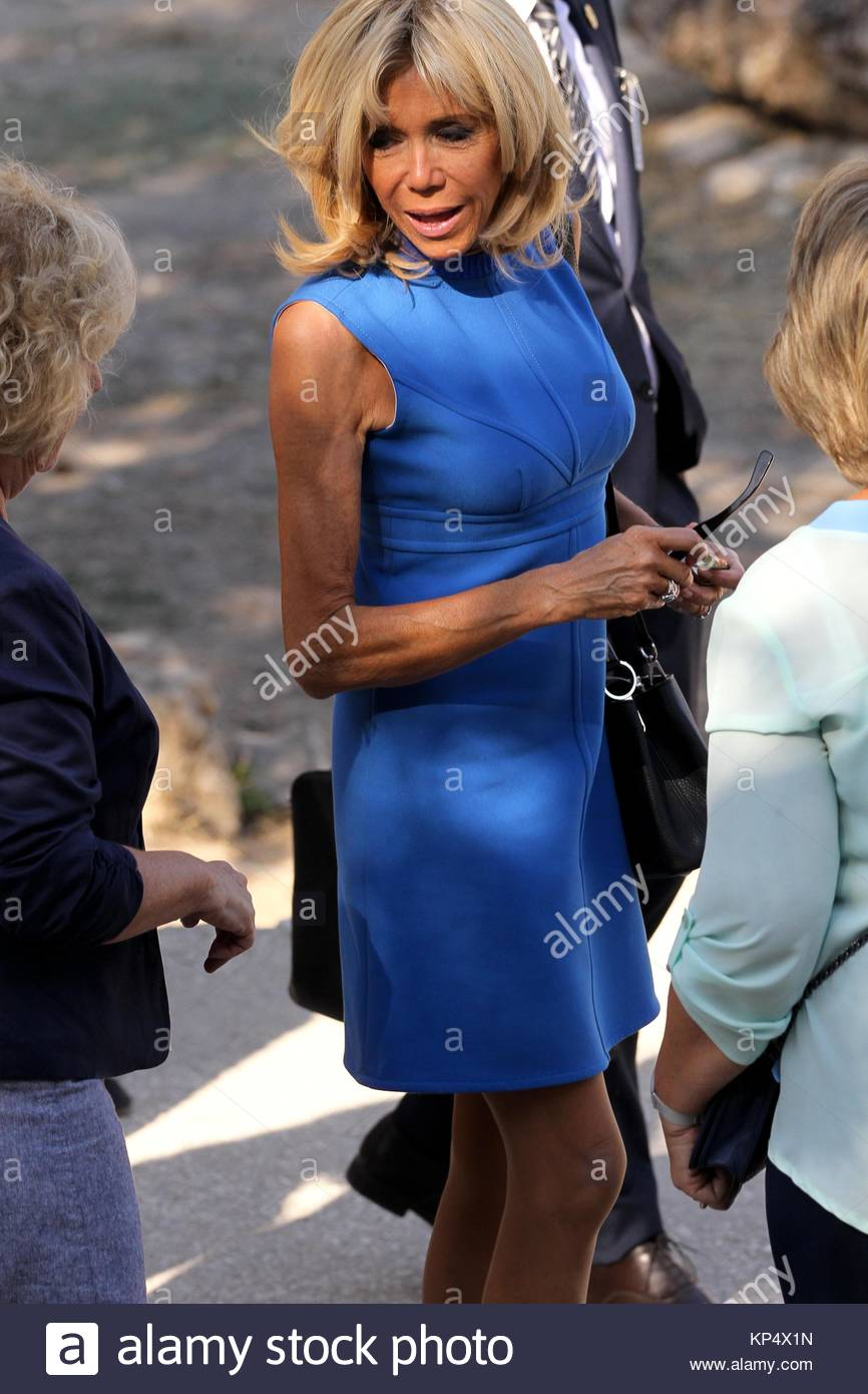 Brigitte Macron Wife Of French President Visits The Ancient Agora In Stock Photo Alamy