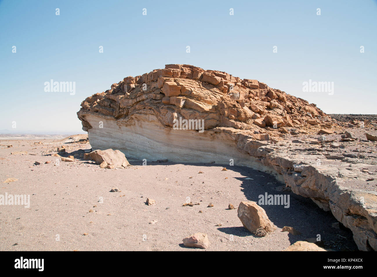 landscape with white rock in damaraland Namibia Stock Photo