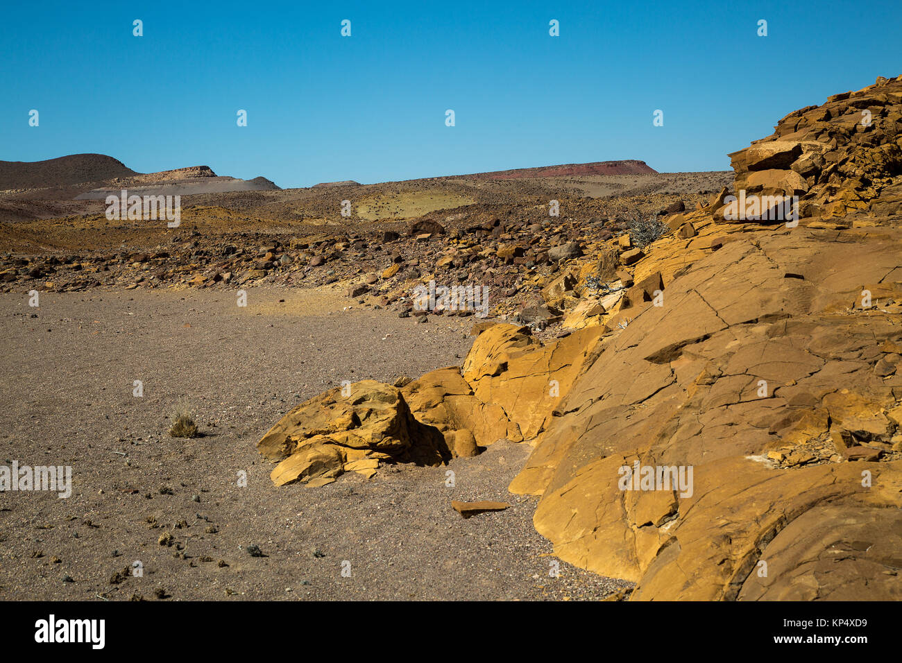 landscape with rock formation in damaraland Namibia - Stock Image
