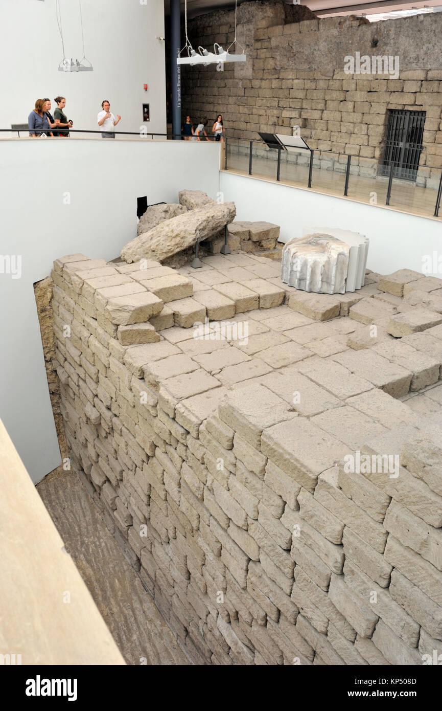 Italy, Rome, Capitoline museums, Musei Capitolini, Palazzo dei Conservatori, temple of Capitoline Jupiter, Tempio - Stock Image