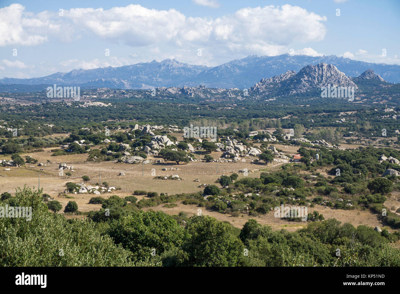 Valle della Luna, valley of the moon, granite landscape  at Aggius, Olbia-Tempio, Gallura, Sardinia, Italy, Mediterranean - Stock Image