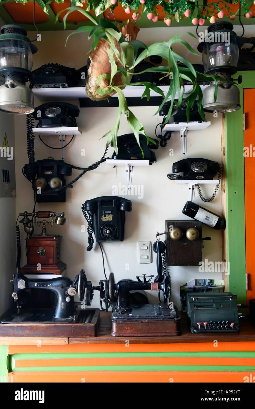 Retro phones, Colombia, South America. - Stock Image