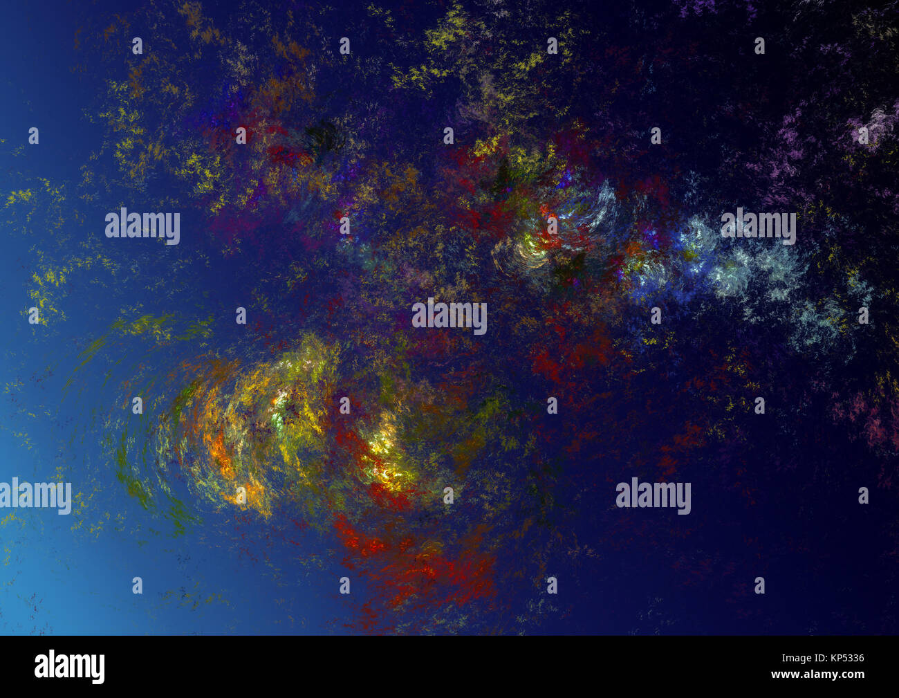 Flame fractal, digitally generated image - Stock Image