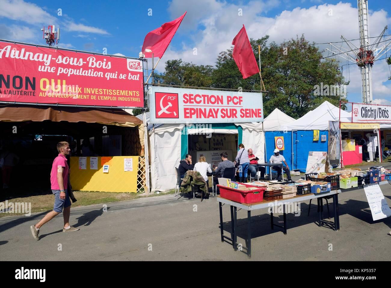 Humanity party, Fête de l´Humanité, La Courneuve, France. - Stock Image