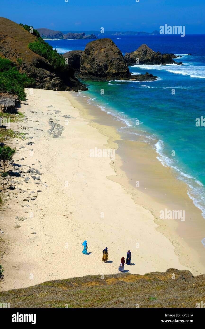 Lombok island,Indonesia,Southeast Asia. - Stock Image