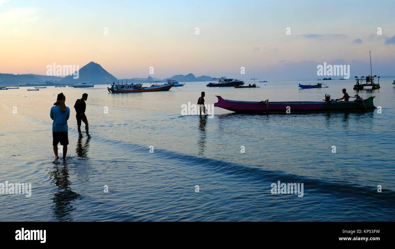 Kuta beach,Kuta,Lombok,Indonesia,Souteast Asia,Asia. - Stock Image