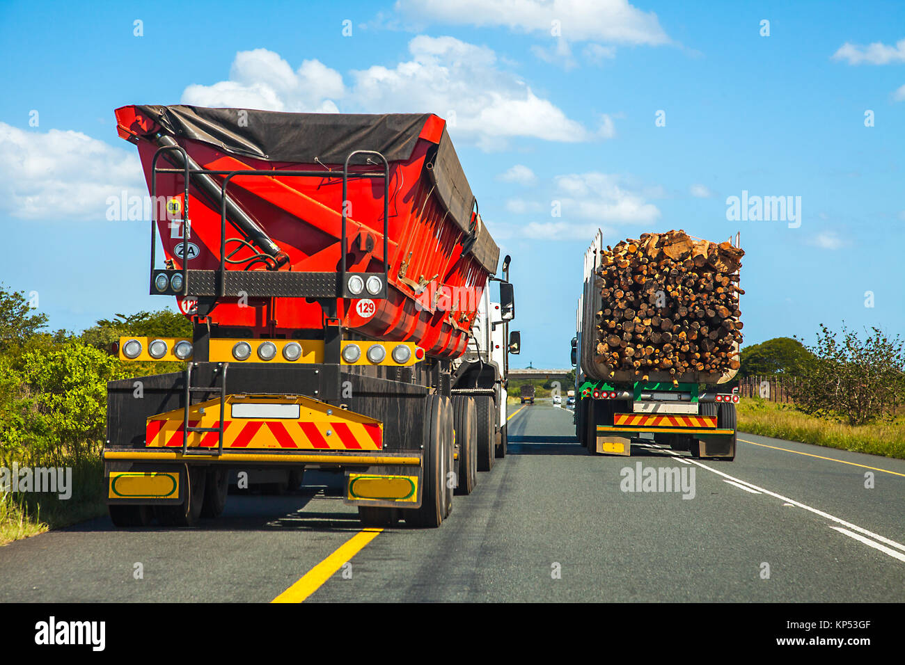 Dangerous overtaking maneuver in South Africa - Stock Image