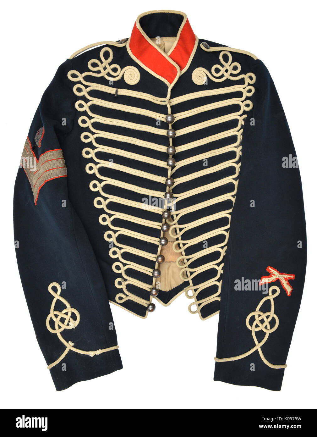 Sergeant's tunic of the Royal Horse Artillery - Stock Image