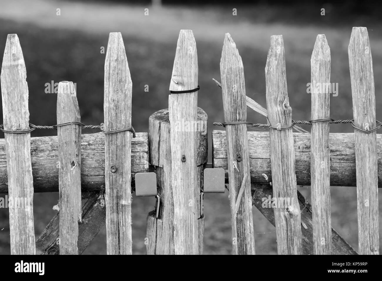 fence on frauenchiemsee,chiemgau,bayern,germany - Stock Image
