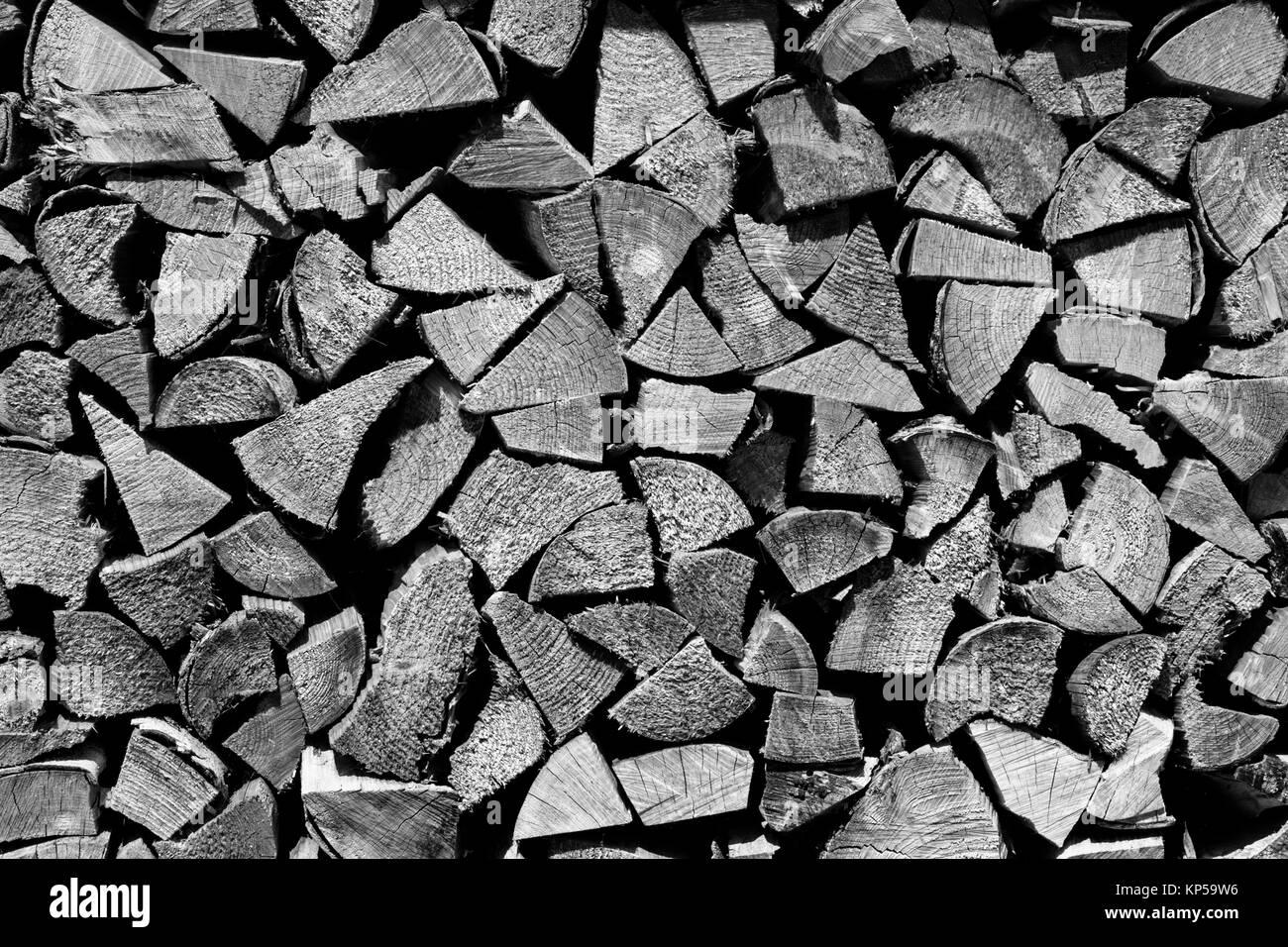 firewood,chiemgau,bayern,germany - Stock Image
