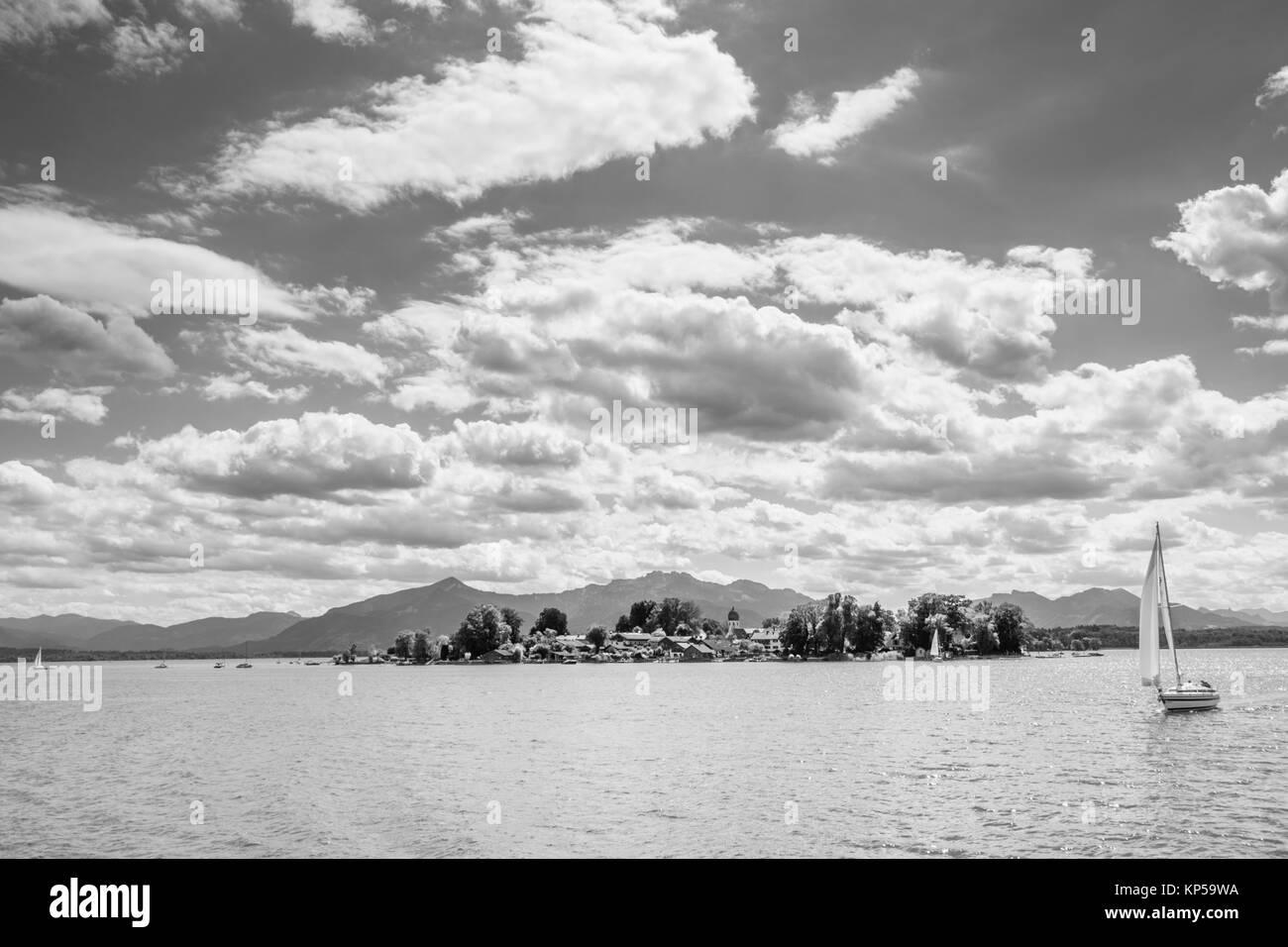 frauenchiemsee island,chiemgau,bayern,germany - Stock Image