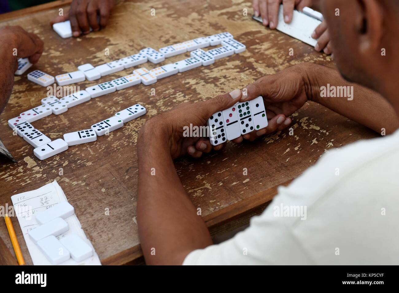 Domino players, Havana, Cuba. - Stock Image