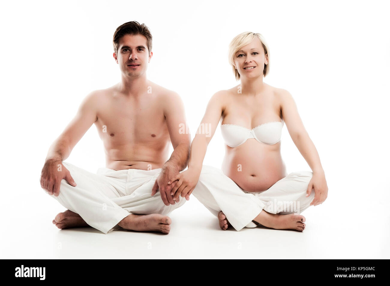 Werdende Eltern - parents-to-be Stock Photo