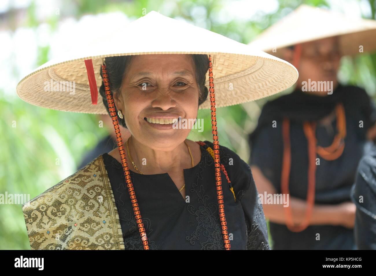 Toraja woman,funeral ceremony,Tana Toraja,Sulawesi,Indonesia. - Stock Image